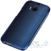 Вид 4 - Чехол Nillkin Rain Leather Series HTC One M8 Blue