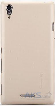 Чехол Nillkin Super Frosted Shield Sony Xperia T3 D5102 Gold