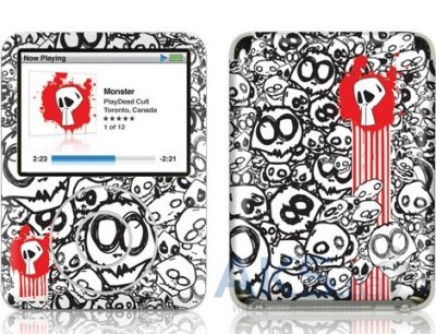 Защитная пленка GelaSkins Monster for iPod Nano 3G