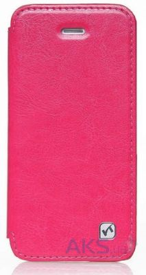 Чехол Hoco Crystal book leather case for iPhone 5C Rose Red (HI-L038)