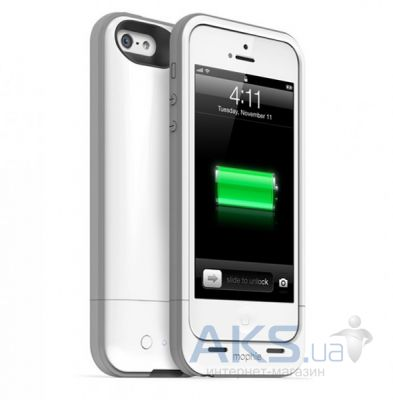 Внешний аккумулятор Mophie Pack Puls for iPhone 5 [MOP-2396], 2100mAh White