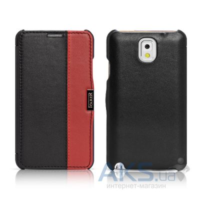Чехол iCarer Side Open colorblock for Samsung N9000 Galaxy Note 3 Black+Red