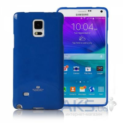 Чехол Mercury Jelly Color Series Samsung N910 Galaxy Note 4 Blue