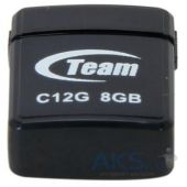 Флешка Team 8GB C12G Black USB 2.0 (TC12G8GB01)