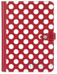 Чехол для планшета Griffin Back Bay Folio Apple iPad Air Polka Red/White/Pink (GB37901)