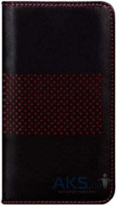 Чехол Bling My Thing Infinity Dots Flip Apple iPhone 5, iPhone 5S, iPhone SE Black/Red (BMT-INF-DT-BKR-FC-IP)
