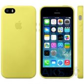 Вид 2 - Чехол Apple Leather Case iPhone 5, iPhone 5S, iPhone SE Yellow (MF043)