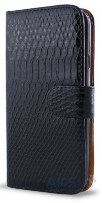 Чехол Turned Around Book for Samsung S6102 Black Croco