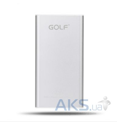 Внешний аккумулятор power bank GOLF Power Bank GF-112 10000mAh Silver