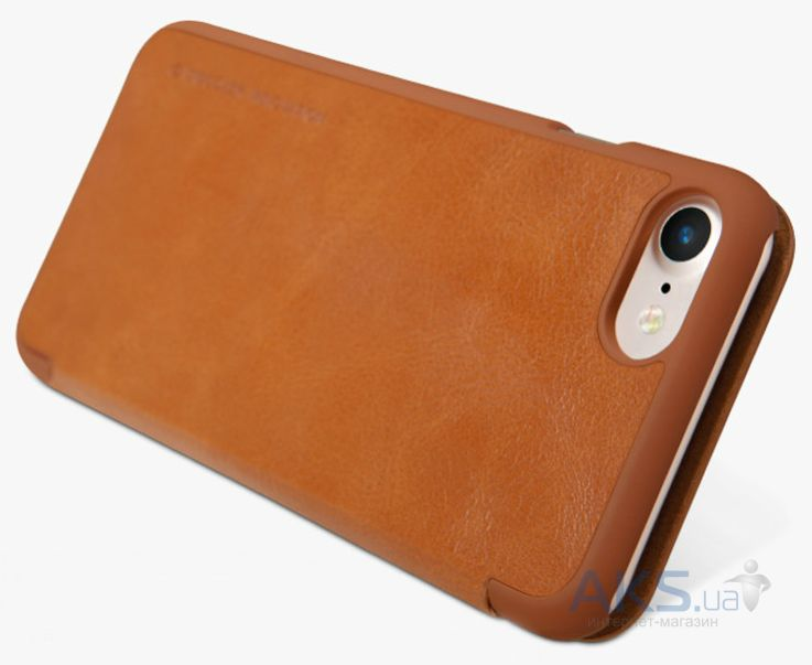 Вид 5 - Чехол Nillkin Qin Leather Series Apple iPhone 7 Brown