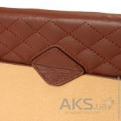 Вид 8 - Чехол для планшета JisonCase Quilted Leather Smart Case for iPad mini/mini 2 Brown (JS-IDM-02G20(002D))