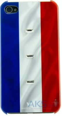 Чехол White Diamonds Flag France for iPhone 4/4S (1110FLA02)