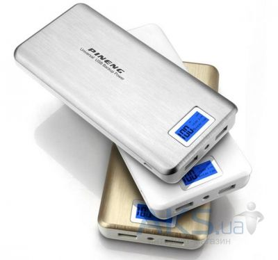 Внешний аккумулятор power bank PINENG Power Bank[PN-999S], 20000 mAh with LCD Silver