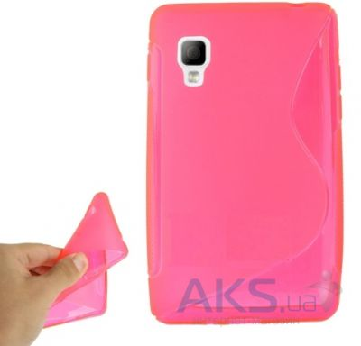 Чехол Celebrity TPU cover case for LG E440 Optimus L4 II Pink