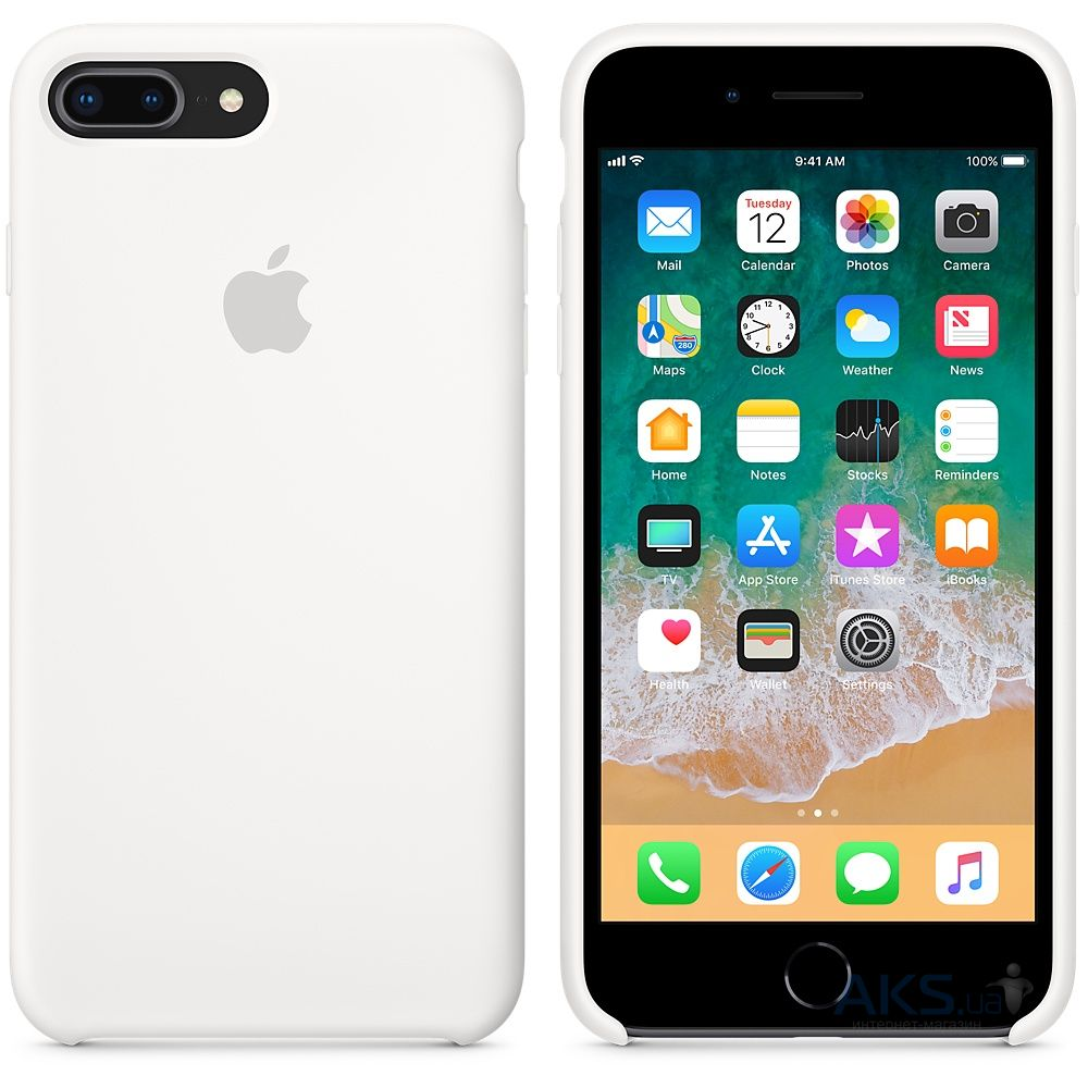 Чехол Apple Silicone Case iPhone 7 Plus, iPhone 8 Plus White_HC - фото 2