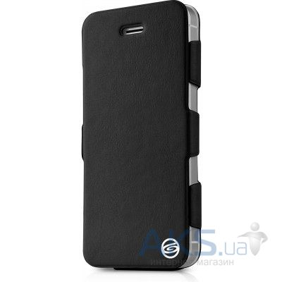 Чехол ITSkins Plume Artificial for iPhone 5/5S Black (APH5-PLUME-BLCK)