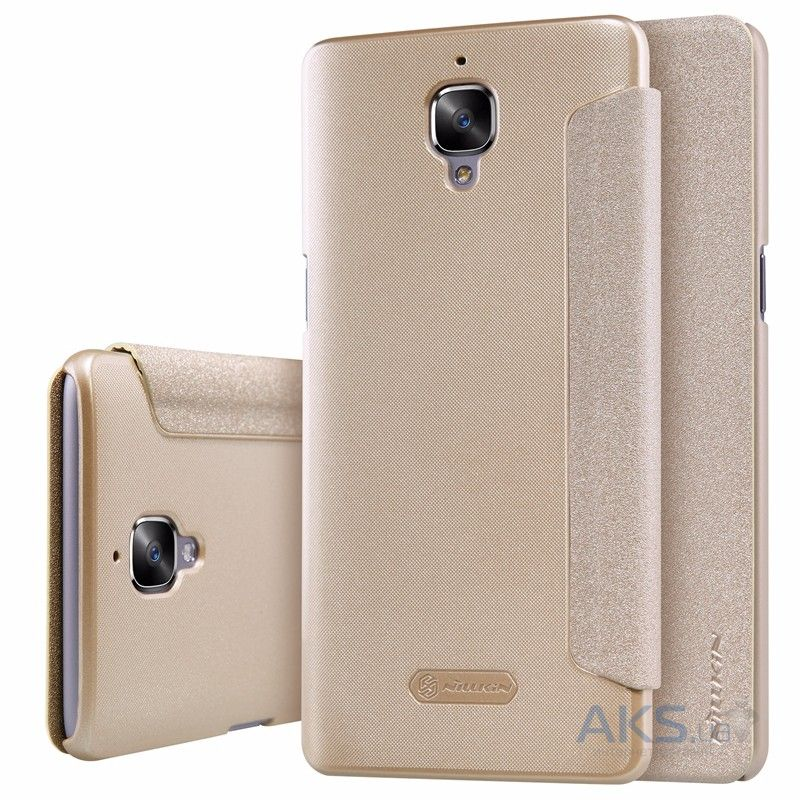 Чехол Nillkin Sparkle Leather Series OnePlus 3, 3T Gold