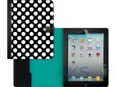 Вид 4 - Чехол для планшета Griffin Back Bay Folio Apple iPad Air Polka Black/White/Turquoise (GB37900)