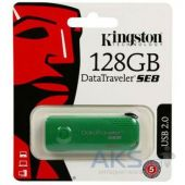 Вид 8 - Флешка Kingston 128GB DataTraveler SE8 USB 2.0 (DTSE8/128GB) Green