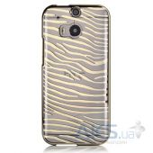 Чехол Vouni Glimmer Zebra для HTC One M8 Gold