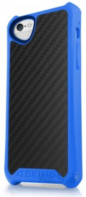 Чехол ITSkins Atom Matt Carbon for iPhone 5/5S Blue (APH5-ATMCA-BLUE)