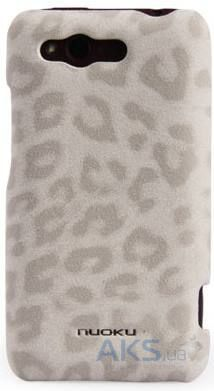 Чехол Nuoku leather case HTC Rhyme S510b Leopard White