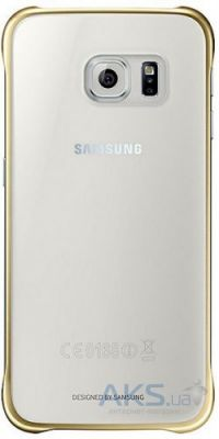 Чехол Samsung Clear Cover G920F Galaxy S6 Gold (EF-QG920BFEGRU)