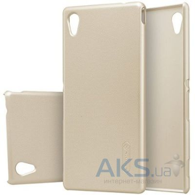 Чехол Nillkin Super Frosted Shield Sony Xperia M4 Aqua E2303 Gold