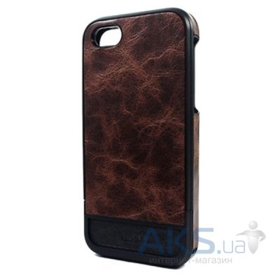 Чехол Lucien Elements Flagments Leather Series Brown for iPhone 5/5S Brown