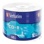 Диск Verbatim CD-R 700Mb 52x Wrap-box Extra (43787)