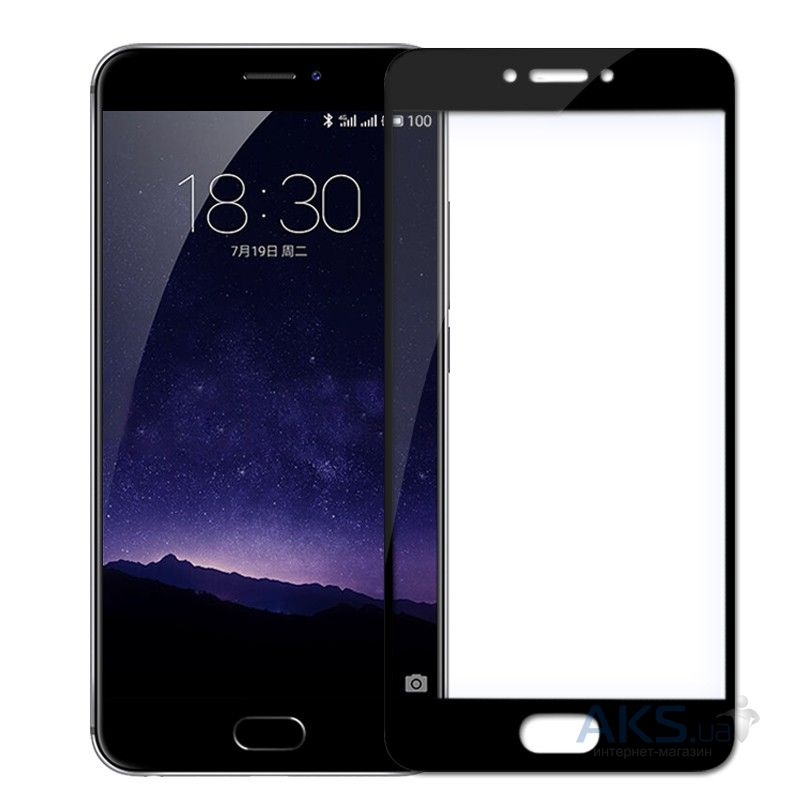 Защитное стекло Tempered Glass 3D Full Cover Meizu MX6 Black