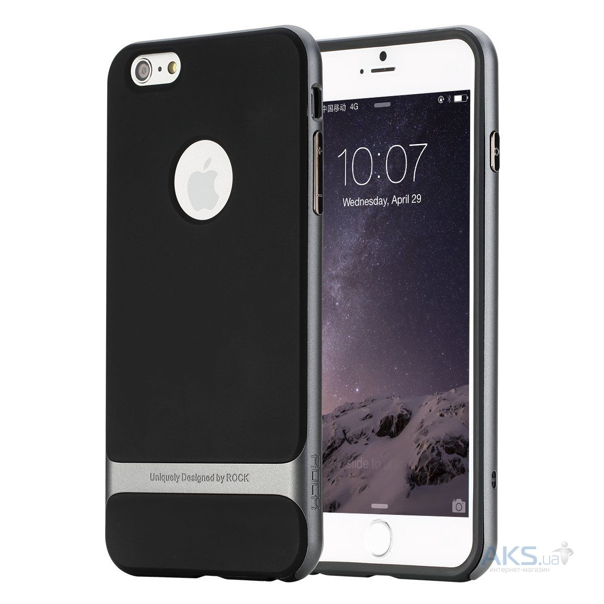 Чехол Rock Royce Series Apple iPhone 5, iPhone 5S, iPhone 5SE Black - Gray