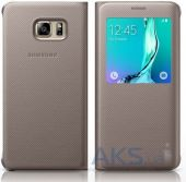 Чехол Samsung S View Cover G928 Galaxy S6 Edge Plus Gold (High Copy)