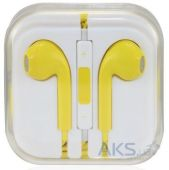 Гарнитура для телефона Apple EarPods with Remote and Mic (MD827) High Copy Yellow