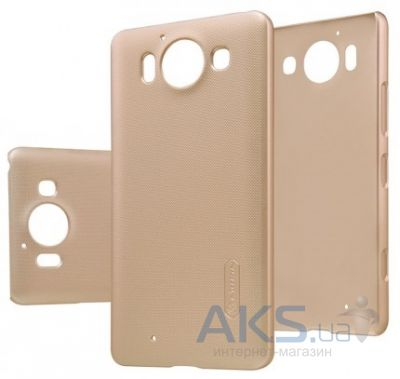 Чехол Nillkin Super Frosted Shield Microsoft lumia 950 Gold