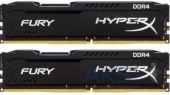 Оперативная память Kingston DDR4 16GB (2x8GB) 2400 MHz Fury Black (HX424C15FBK2/16)