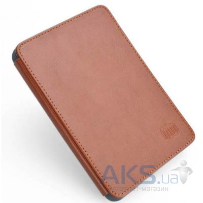 Обложка (чехол) MyBook Leather Cover Brown with LED light for Kindle 4/5 Brown