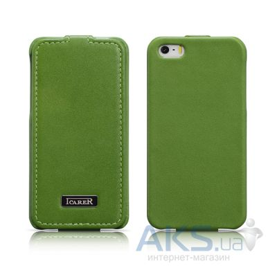 Чехол iCarer Luxury Flip Apple iPhone 5, iPhone 5S, iPhone SE Green