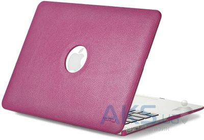 Чехол Kuzy Leather Case for MacBook Air 13 Magenta
