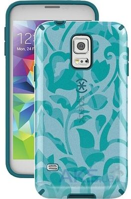 Чехол Speck CandyShell for Samsung G900 Galaxy S5 Inked WallFlowers Blue/Atlantic Blue (SP-SPK-A2858)