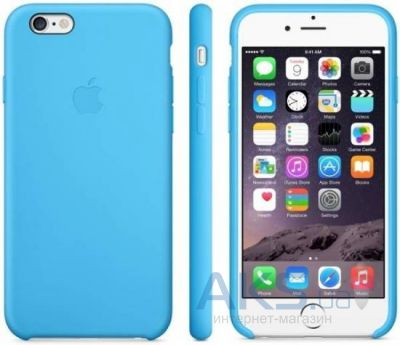 Чехол Apple Silicone Case iPhone 6, iPhone 6S Blue (MKY52)