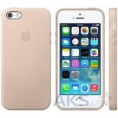 Apple Silicone Case iPhone SE, iPhone 5S, iPhone 5 Beige (hc)