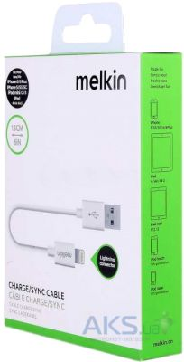 Кабель USB Melkin Short Lightning Cable 0.15M White