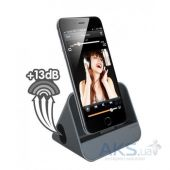 Вид 4 - Док-станция Ozaki O!tool A-Dock Charging Dock Plus Acoustic Amplifiter Space Grey (OT224SG)