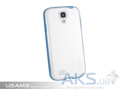 Чехол Usams iCase-Shine On Series for Samsung i9500 Galaxy S4 Transparent  Blue