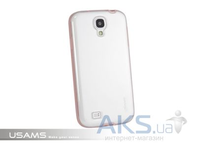 Чехол Usams iCase-Shine On Series for Samsung i9500 Galaxy S4 Transparent  Pink