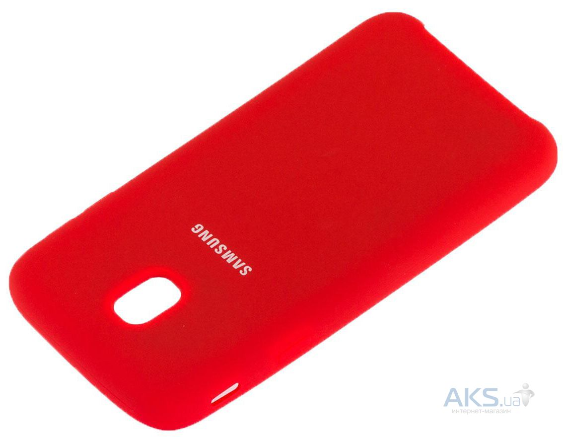 Чехол 1TOUCH silicone case Samsung J330 Galaxy J3 2017 Red - фото 2