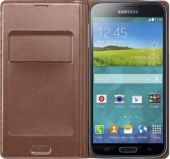 Вид 2 - Чехол Samsung Flip Wallet Cover для Galaxy S5 Rose Gold (EF-WG900BFEG)