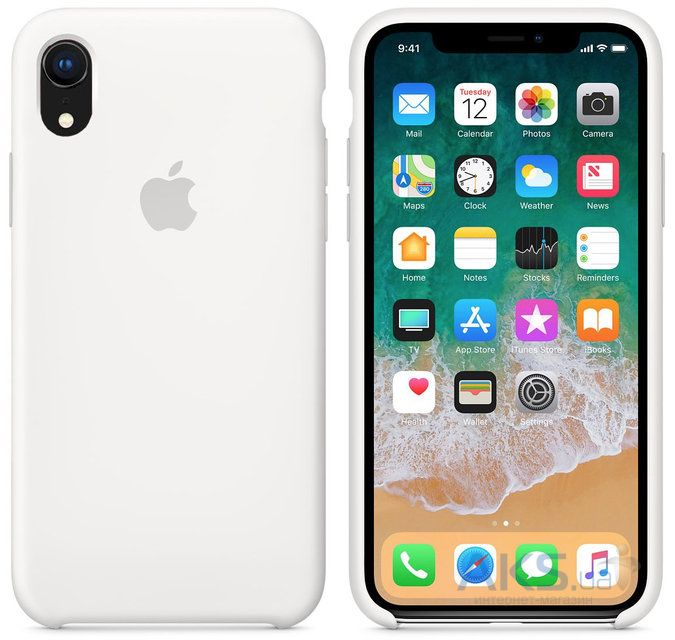 Чехол Apple Silicone Case iPhone XR White (HC)