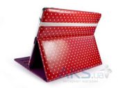 Вид 3 - Чехол для планшета Tuff-Luv Slim-Stand Leather Case Cover for iPad 2,3,4 Raspberry: Polka-Hot (B10_36)